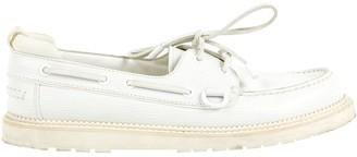 Louis Vuitton White Leather Lace ups