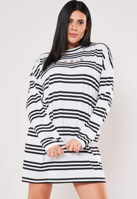 Missguided Plus Size White Stripe Oversized T Shirt Dress