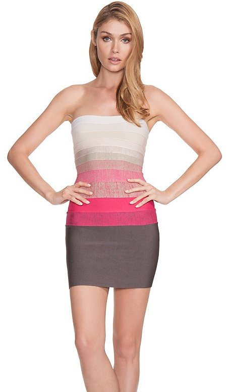 GUESS by Marciano Zaira Ombre Strapless Dress