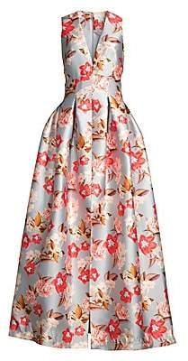 Sachin + Babi Women's Brooke Floral Satin A-Line Gown