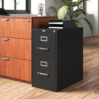 Scalise 2-Drawer Vertical Filing Cabinet Latitude Run Color: Black