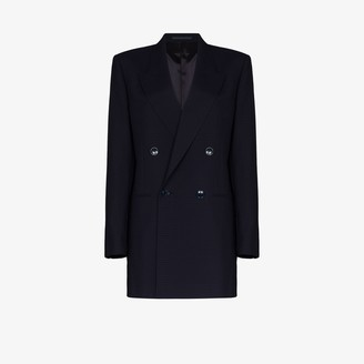 Martine Rose Double-Breasted Check Wool Blazer