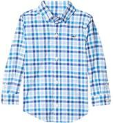 Vineyard Vines Kids Orange Grove Performance Whale Shirt (Toddler/Little Kids/Big Kids) (Royal Ocean) Boy's Clothing