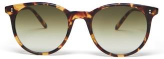 Garrett Leight Marian Round Tortoiseshell-acetate Sunglasses - Womens - Tortoiseshell