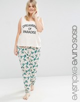 Asos Dreaming of Paradise Tank & Legging Pajama Set
