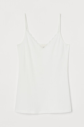 H&M Jersey Lace-detail Camisole