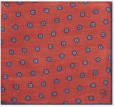 Canali Flower tile silk pocket square