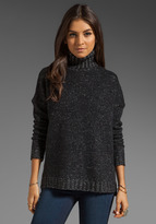 Vince Tweed Turtle Neck Sweater