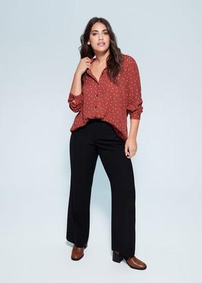 MANGO Violeta BY Printed shirt burnt orange - 10 - Plus sizes