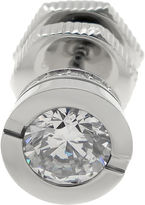 JCPenney FINE JEWELRY Mens Cubic Zirconia Stainless Steel Stud Earring