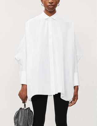 Azzedine Alaia Dolman-sleeve cotton-poplin shirt