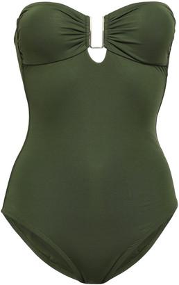 Melissa Odabash Argentina Embellished Stretch-pique Bandeau Swimsuit
