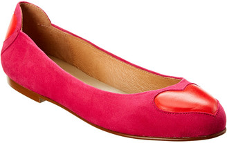 French Sole Suess Suede Flat