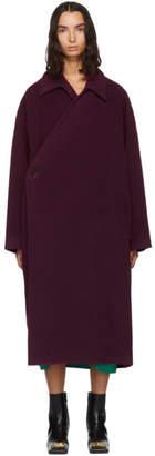 Balenciaga Purple Camel Wrap Coat