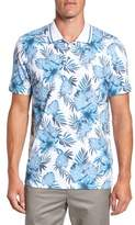Ted Baker Men's Course Floral Print Modern Slim Fit Golf Polo