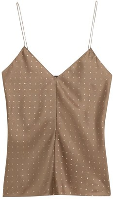 Theory Polka Dot Silk Camisole