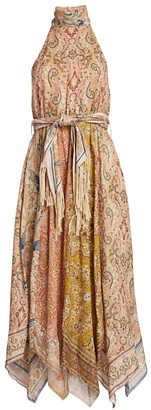 Zimmermann Freja Scarf Midi Dress
