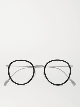 Kingsman Cutler and Gross Round-Frame Acetate and Silver-Tone Optical Glasses - Men - Black