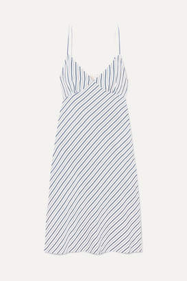 MICHAEL Michael Kors Striped Piqué Dress - Blue