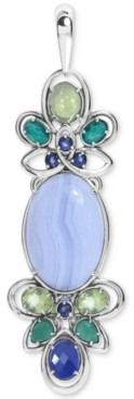 Carolyn Pollack Multi-Gemstone Pendant Enhancer (3-7/8 ct. t.w.) in Sterling Silver