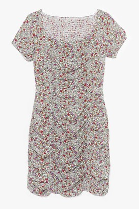 Nasty Gal Womens Bud By You Floral Mini Dress - Green - 4, Green