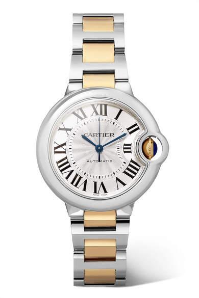 Cartier Ballon Bleu De 33mm 18-karat Gold And Stainless Steel Watch