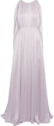 Roksanda Aurelie Open-back Draped Silk-charmeuse Gown