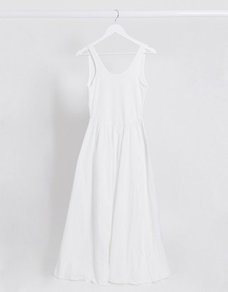 Free People emilys midi dress in white