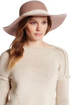 David & Young Wool Crochet Band Floppy Hat