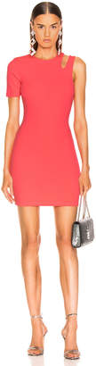 Alexander Wang Sleek Rib Asymmetric Dress in Hot Pink | FWRD