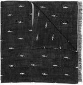 Neil Barrett lightning bolt scarf