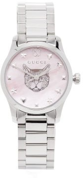 Gucci G-timeless Mother-of-pearl & Stainless-steel Watch - Womens - Silver