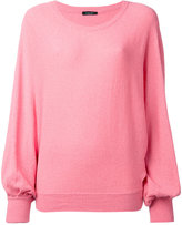 Roberto Collina billowing sleeve jumper - women - Cotton/Polyamide - XS