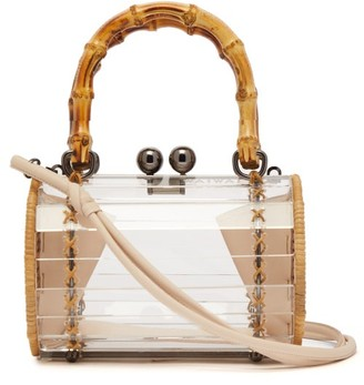 clear Wai Wai - Alix Bamboo, Rattan And Acrylic Cross-body Bag - Womens