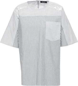 DKNY Fresh Perspective Striped Cotton Top