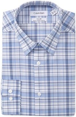 Calvin Klein Slim Fit Plaid Dress Shirt