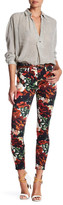 7 For All Mankind Floral Print Ankle Skinny Jean