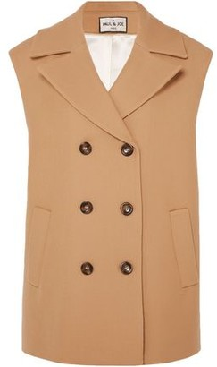 Paul & Joe Baron Oversized Double-breasted Wool And Cotton-blend Vest