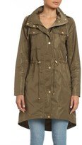 Badgley Mischka Women's Water Repellent Anorak With Stowaway Hood