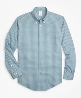 Brooks Brothers Non-Iron Regent Fit Two-Color Gingham Sport Shirt