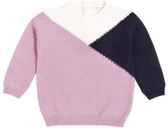 Miles Lilac Mountains Colorblock Sweater