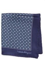 Salvatore Ferragamo Men's Paisley Print Silk Pocket Square