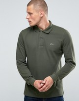 Lacoste Polo Shirt In Long Sleeve Green Regular Fit