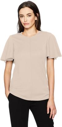 Ellen Tracy Women's Flounce Sleeve Top