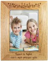 Very Personalised Grandchildren Wooden Photo Frame