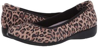 Aravon Abbey Ballet (Leopard Print) Women's Flat Shoes