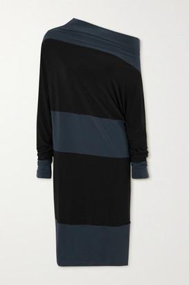 Norma Kamali Convertible Two-tone Stretch-jersey Dress