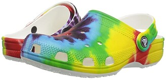 Crocs Classic Tie-Dye Graphic Clog (Toddler/Little Kid/Big Kid) (Multi) Kids Shoes