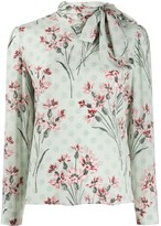 RED Valentino floral print pussy bow blouse