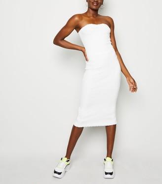 New Look Frill Trim Jersey Midi Dress